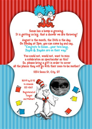 Dr Seuss Baby Shower Invitations For