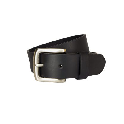 Plain Black Leather Belts MLB350-BLK