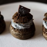 Charcoal Dark Chocolate Cream Puff with Black Sesame Chantilly Cream and Tofu Creme Patisserie6