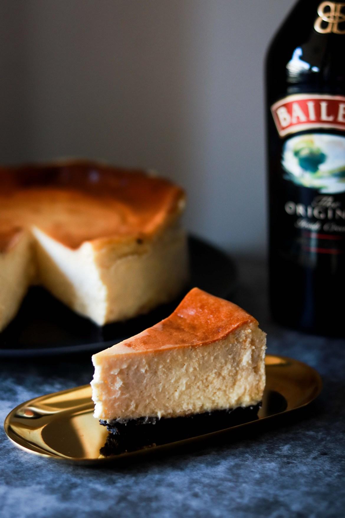 Baked Bailyes Cheesecake with Oreo Base6
