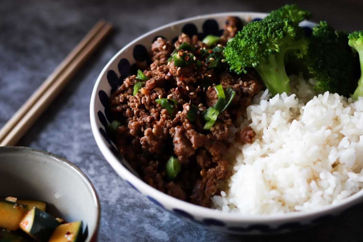 Korean Beef and Broccoli Rice Bowl