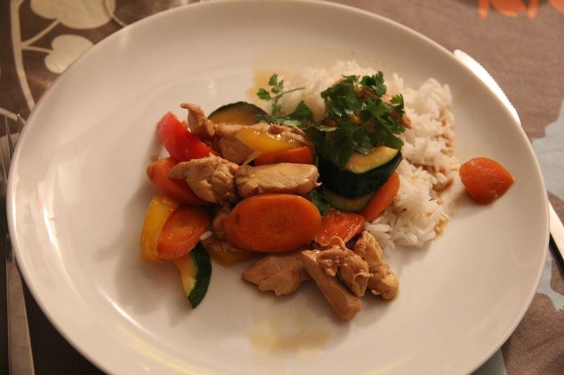 Poulet au gingembre et aux légumes