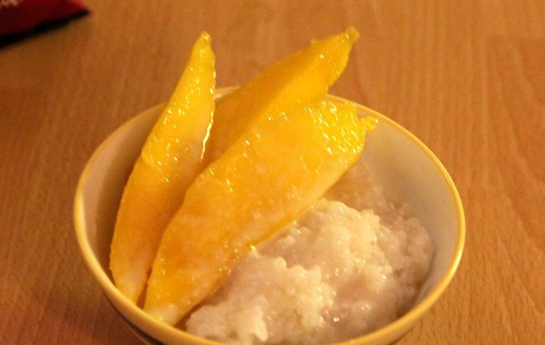 Dessert vegan : riz gluant coco mangue