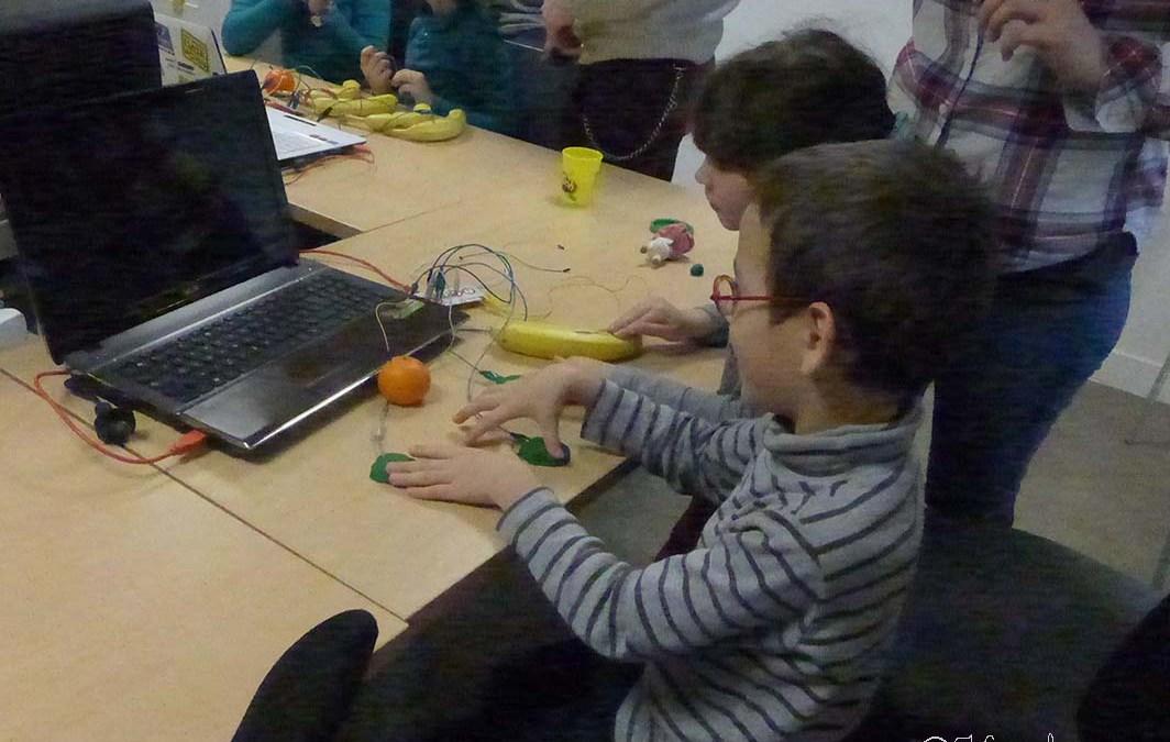 Atelier Makey Makey pour les enfants au LabFab de Rennes