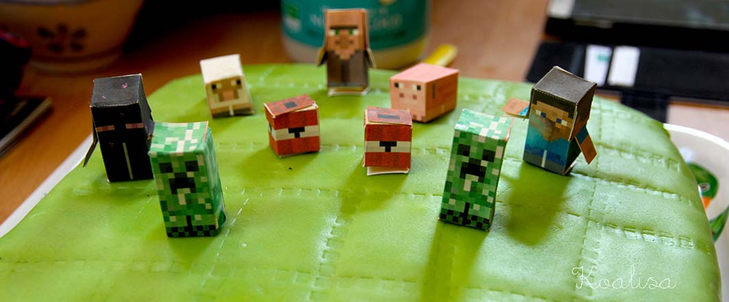 gateau minecraft