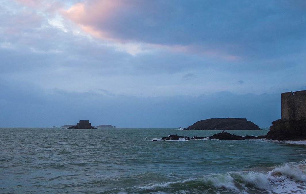 Le tour des remparts en hiver à Saint Malo