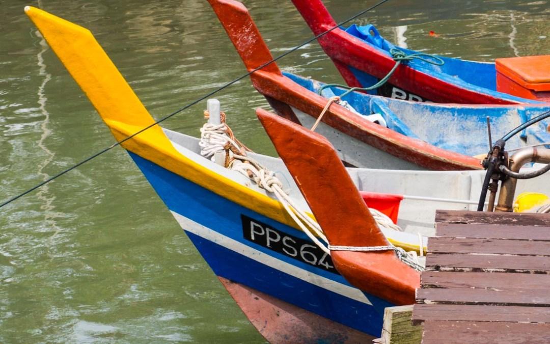 Kampung Nelayan, un village de pêcheurs à Penang, Malaisie