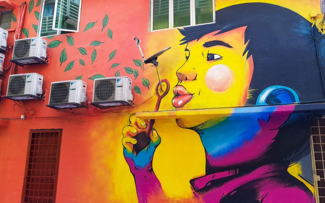 Street Art à Jalan Alor, Kuala Lumpur, Malaisie