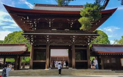 Le temple Meiji-Jingu à Tokyo