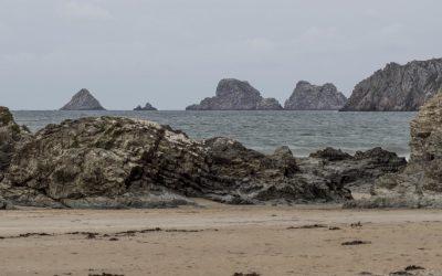 La plage de Kersiguénou, sur la presqu'île de Crozon
