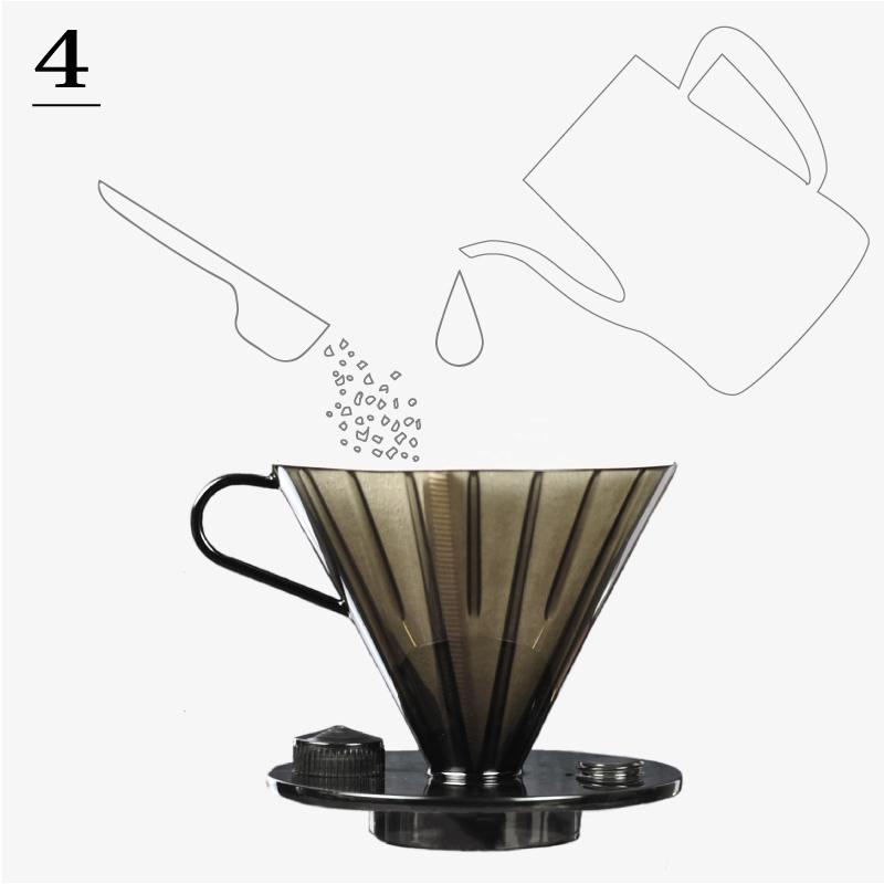 4. いつも通りドリップ。お好みの濃さの美味しいコーヒー。