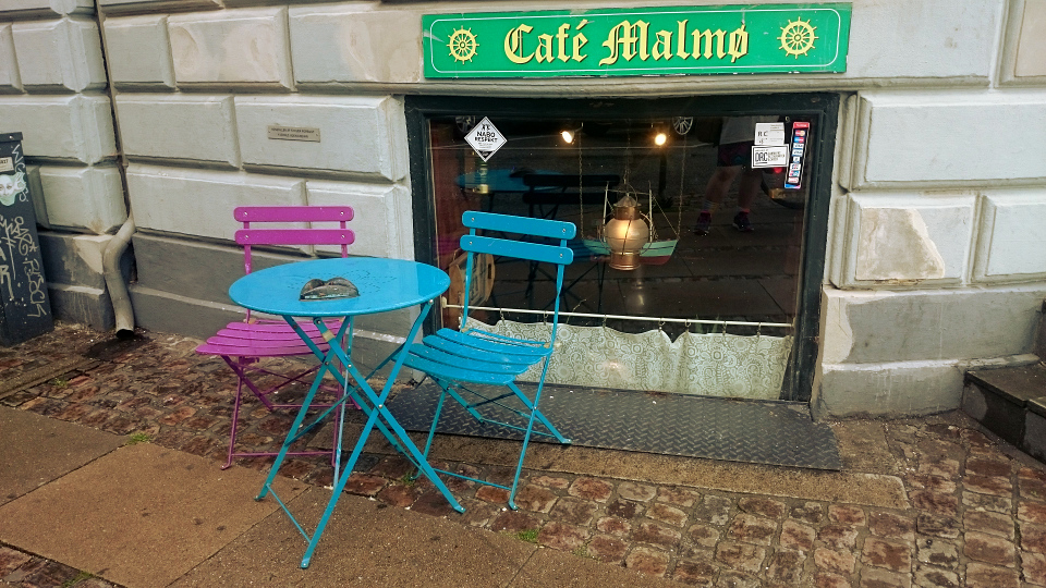 Exterior of Cafe Malmo in Copenhagen, Denmark.