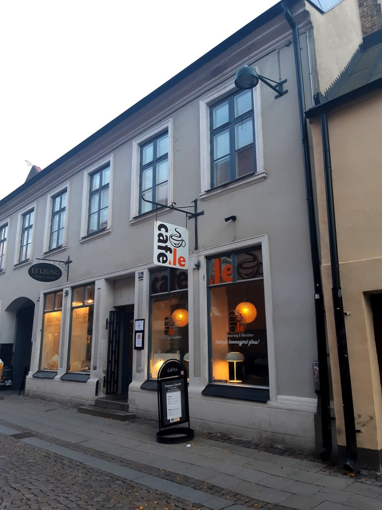 Exterior of the Cafe och Le in Lund