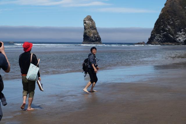 オレゴンの海で童心に帰る