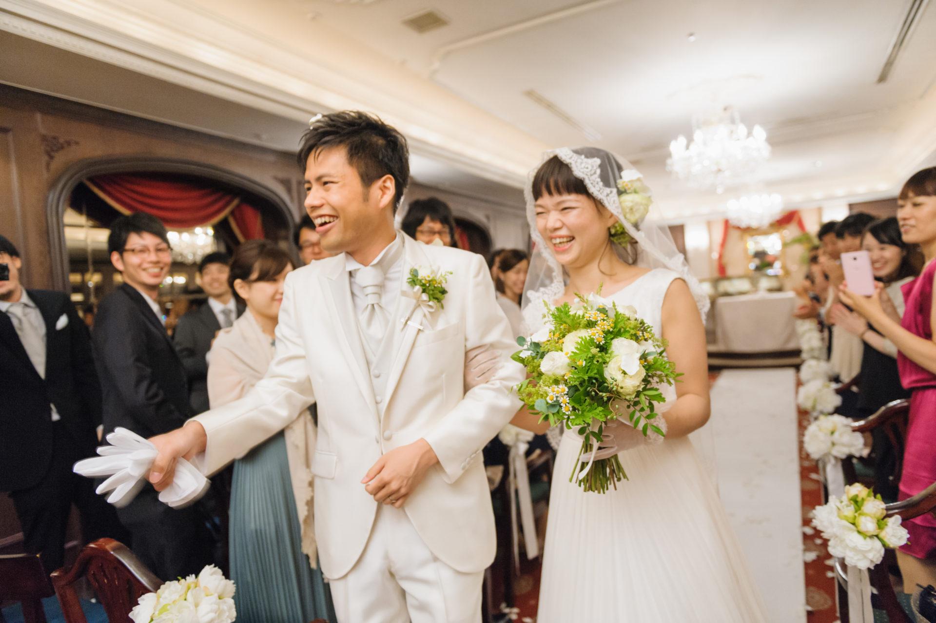 シェ松尾結婚式退場シーン