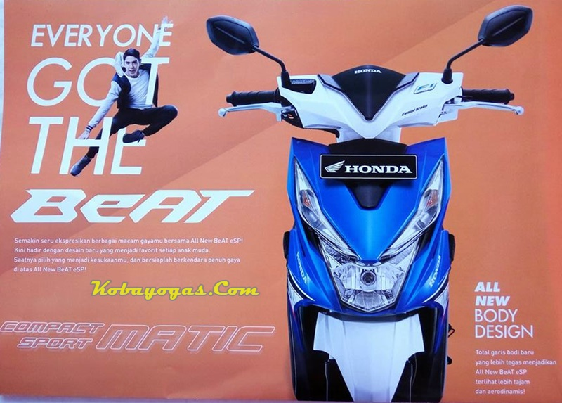 all new honda beat biru putih depan