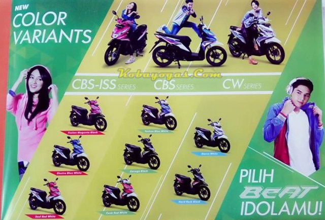 pilihan warna all new honda beat 2016