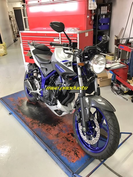 modifikasi yamaha mt25 lampu bulat