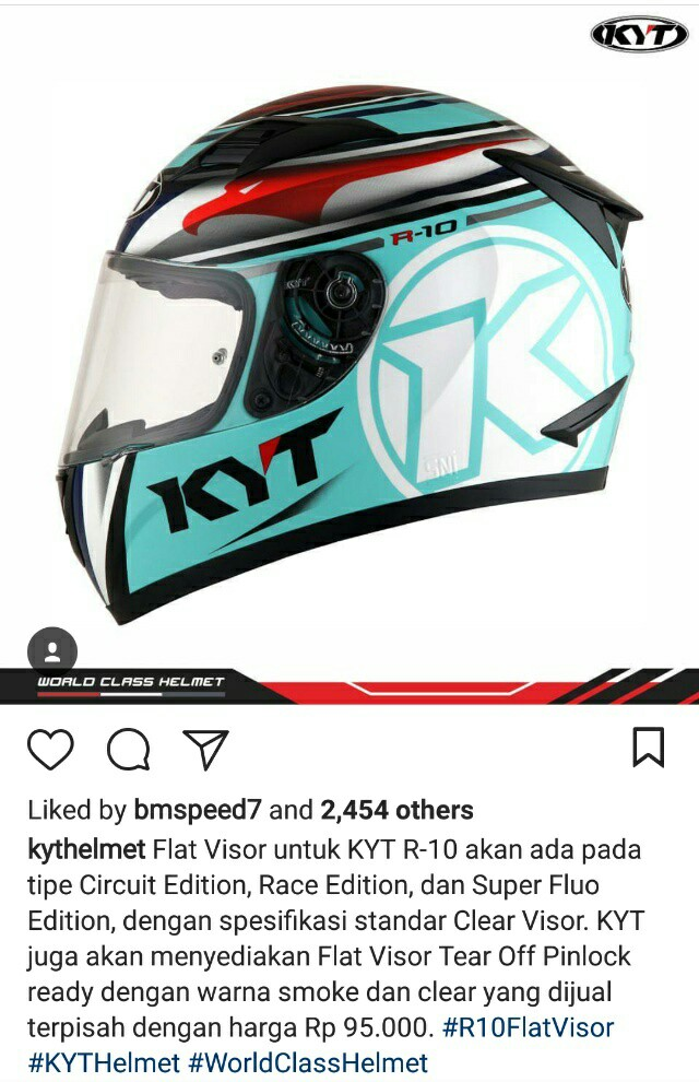 harga flat visor kyt r10 tear off pinlock ready clear dan smoke