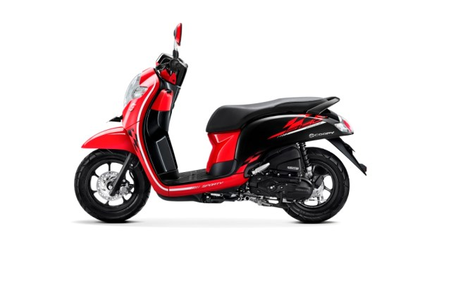 all New Scoopy sporty red