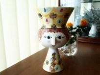 1970年製 イエロー基調の花瓶になったフィギリン