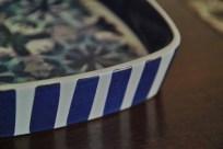 ロイヤルコペンハーゲン テネラシリーズ 四角いトレー Marianne Johnson(マリアンヌ・ジョンソン)デザイン 1