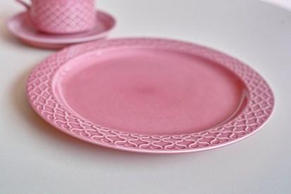 Jens.H.Quistgaard Cordialパターン 限定カラー ピンク 直径24㌢ プレート 1