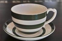 英国 T.G.GREEN 緑色のラインが愛らしい大きなカップ&ソーサー