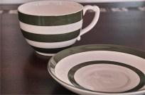 英国 T.G.GREEN 緑色のラインが愛らしい大きなカップ&ソーサー 3