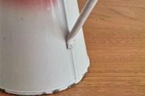 フランス製 アンティークホーローピッチャー 赤のグラデーション 2
