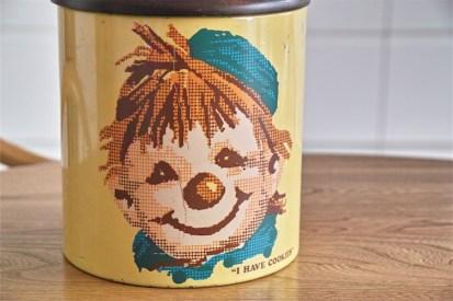 米国 ランズバーグ社 RANSBURG クッキー缶 蓋は木製 1