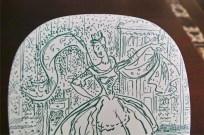 NYMOLLE 1961 イヤープレート 華やかに踊る女性 1