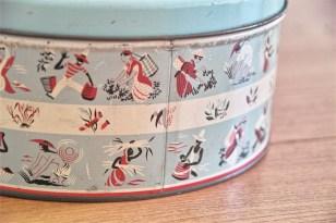 英国 ウースターウェアー(Worcester Ware)の名品! 茶摘み柄のケーキ缶 4