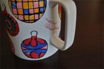 ドイツ ローゼンタール(Rosenthal)製 アンディ・ワォホール(Andy Warhol)デザイン クリスマスオーナメント柄 ビッグマグカップ 4