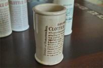 英国 クロテッドクリームボトル ブラウン文字 ロングサイズ 4