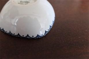 1950年代 ビョルン・ヴィンブラッド(Bjorn Wiinblad 1918-2006 )デザイン 可愛い四角のぽってりしたフォルムのマメ皿 楽器シリーズ マンドリン