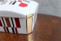 資生堂 SHISEIDO ノベルティ  椿会 1997年度 フェイスパウダー用 陶器製小物入れ 10
