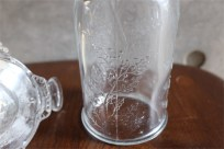 アメリカ MOSSER GLASS (モッサーグラス)製 キャンドルホルダー ヒイラギ柄 5