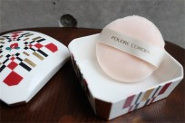 資生堂 SHISEIDO ノベルティ  椿会 1997年度 フェイスパウダー用 陶器製小物入れ 6