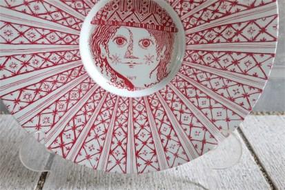 Bjørn (Bjorn) Wiinblad (ビョルン・ヴィンブラッドさん) 飾り皿 31㌢  デンマーク ニモール窯 Nymølle 3057-164 17