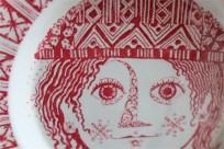Bjørn (Bjorn) Wiinblad (ビョルン・ヴィンブラッドさん) 飾り皿 31㌢  デンマーク ニモール窯 Nymølle 3057-164 14