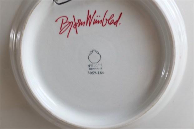 Bjørn (Bjorn) Wiinblad (ビョルン・ヴィンブラッドさん) 飾り皿 31㌢  デンマーク ニモール窯 Nymølle 3057-164 10