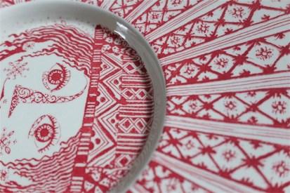 Bjørn (Bjorn) Wiinblad (ビョルン・ヴィンブラッドさん) 飾り皿 31㌢  デンマーク ニモール窯 Nymølle 3057-164 6
