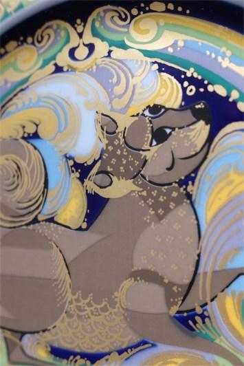 ドイツ ローゼンタールStudio-line製 ビョルン・ヴィンブラッドデザイン 干支シリーズ1982年度版 犬年 3000枚限定 径29㌢ 9