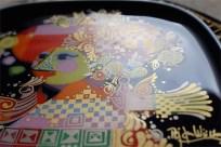 ドイツ ローゼンタールStudio-line製 ビョルン・ヴィンブラッドデザイン 飾り皿 ギター(バラライカ)を弾く女性 4