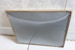 デンマーク製 アンティークフレーム 吹きガラス製で凸型に湾曲しています B 9