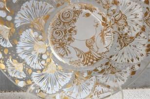 独1976年 ROSENTHAL(ローゼンタール社)製 ビョルン・ヴィンブラッドデザインのガラス飾り皿 3000枚限定 25