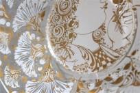 独1976年 ROSENTHAL(ローゼンタール社)製 ビョルン・ヴィンブラッドデザインのガラス飾り皿 3000枚限定 23