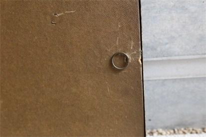 デンマーク製 アンティークフレーム 吹きガラス製で凸型に湾曲しています B 7
