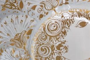 独1976年 ROSENTHAL(ローゼンタール社)製 ビョルン・ヴィンブラッドデザインのガラス飾り皿 3000枚限定 16